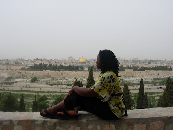 Rev. LeSette Wright Overlooking the Temple Mount